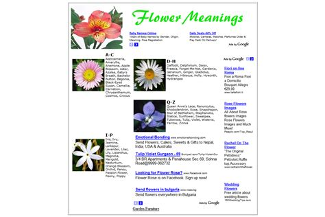 web layout meaning symbolic meaning of flowers impact o webdesign