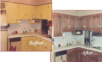 reface kitchen cabinets before and after house
