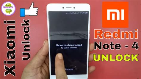 redmi note 4g pattern unlock hard reset redmi note 4 pattern unlock youtube