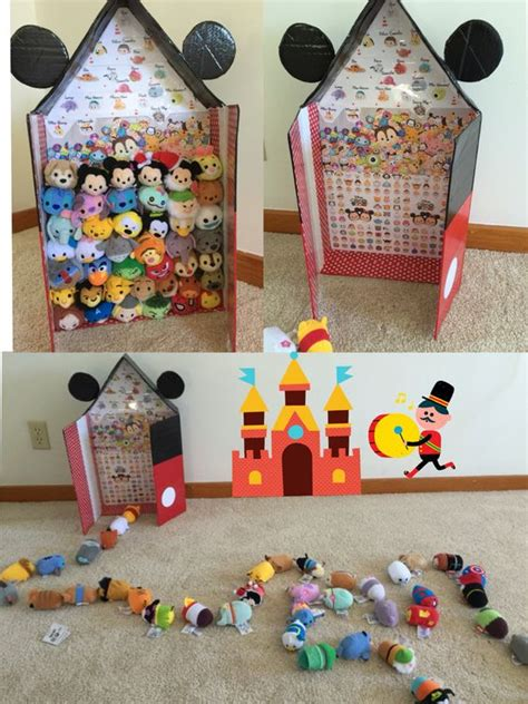 Tsum Tsum Box tsum tsum storage in micky s house diy from a flat