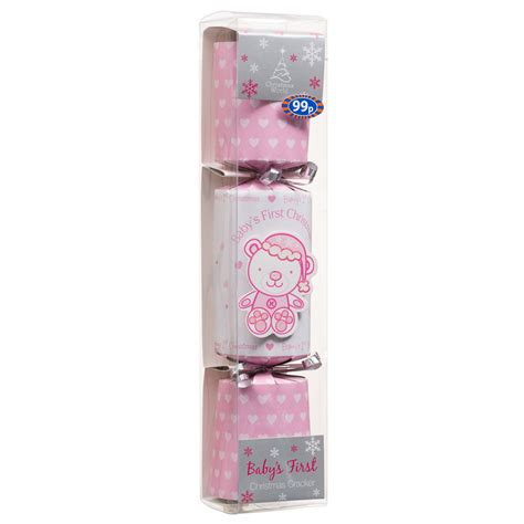 b m gt baby s first christmas cracker pink