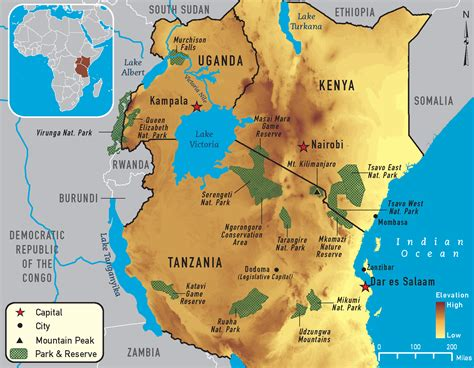 east africa map best of east africa overview africa tours see the best of east newhairstylesformen2014