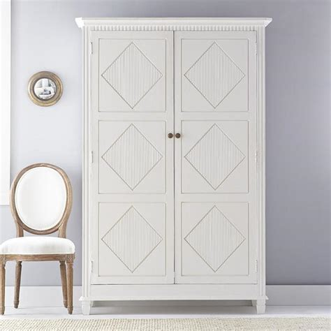 White Wood Armoire by White Swedish Armoire