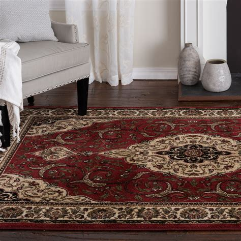 homes gardens burgundy gina area rug walmartcom