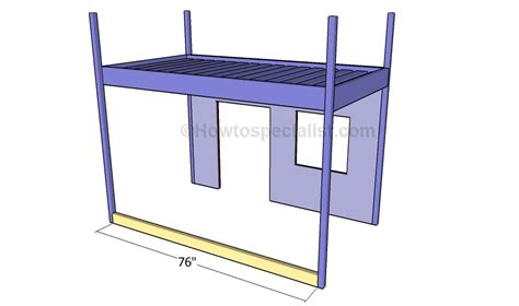 Build Loft Bed Frame Playhouse Loft Bed Plans Howtospecialist How To Build Step By Step Diy Plans