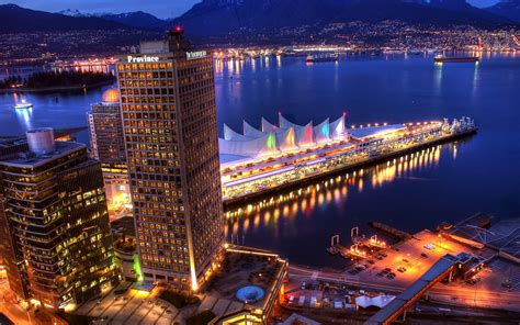 3d wallpaper vancouver vancouver city night lights wallpapers 1680x1050 2118641