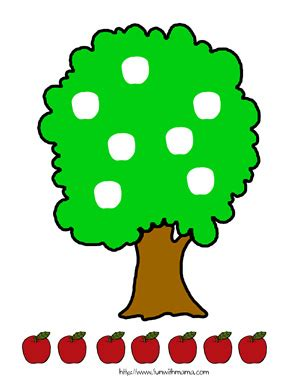 printable family tree with apples apple tree cut and paste activity fun with mama