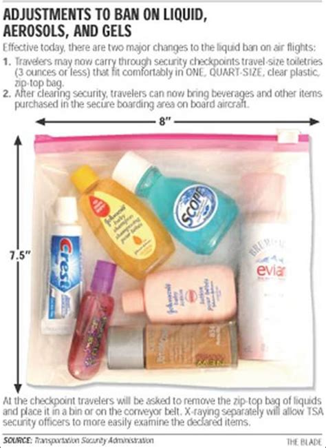 Breaking News Tsa Eases Restrictions On Liquids Gels Creams In Luggage 2 by Carry On Travel Restrictions Are Easing Up Today Toledo
