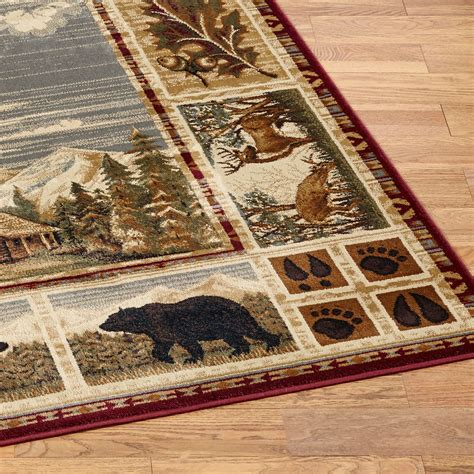 Rustic Cabin Rugs by Hunters Cabin Rustic Area Rugs