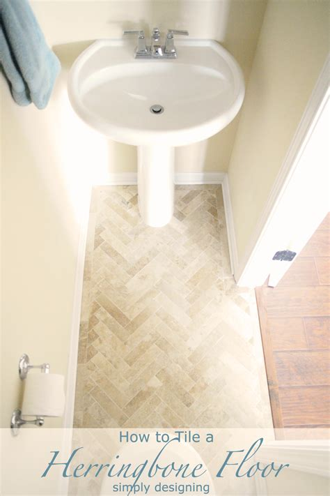 herringbone tile floor how to prep lay and install