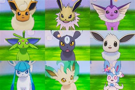 shiny eeveelutions | pokemon | pinterest