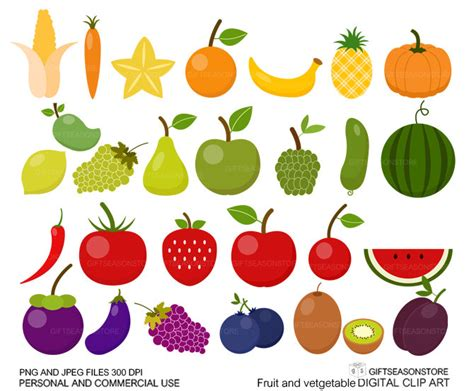 fruits and vegetables clipart fruit clipart fruits and vegetable pencil and in color