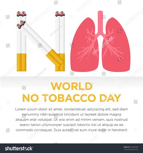 day no world no tobacco day no stock vector 429042208
