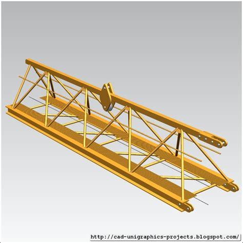 tower crane sections tower crane crane jib main nx step iges 3d cad