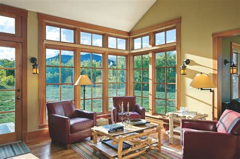 country style windows from cabin to home