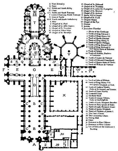 Floor Plan Of Westminster Abbey by The Cathedrals Of Great Britain By P H Ditchfield