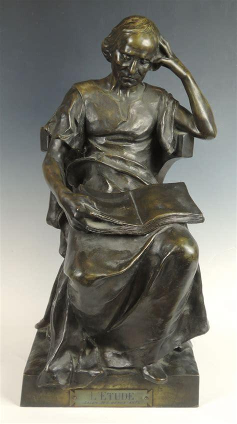 Bronze L by H Levasseur Antique Bronze Quot L Etude Quot The Scholar