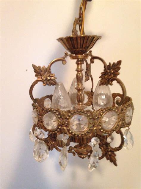 Antique Brass Crystal Chandelier Ebay Antique Chandeliers Ebay