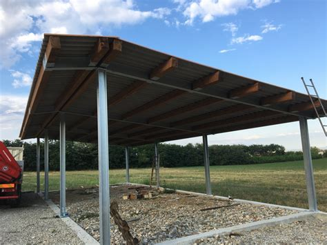 tettoia in ferro zincato lavori di carpenteria idee fabbri