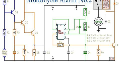 Alarm Sepeda Motor alarm sepeda motor anti maling ic555
