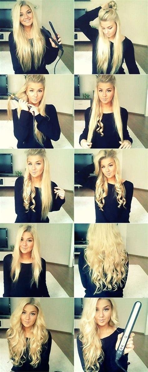 curly hairstyles using straightener curls with a straightener curls n waves pinterest