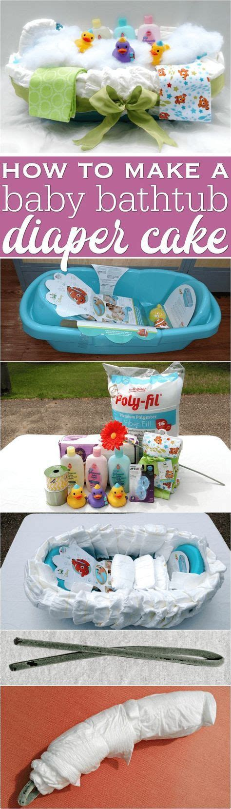 how to make a bathtub diaper cake 17 best ideas about diaper cake instructions on pinterest
