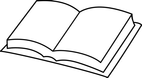 blank book coloring page free clip art
