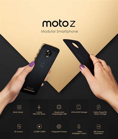 Moto Z Smartphone Black 64gb 4gb lenovo motorola moto z 5 5 inch 4gb 64gb smarthphone black