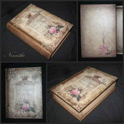 Decoupage Books - decoupage book box by snegurocka on deviantart