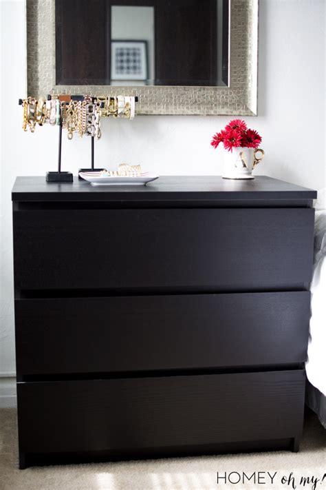 Black Ikea Desk Campaign Style Dresser Ikea Malm Makeover
