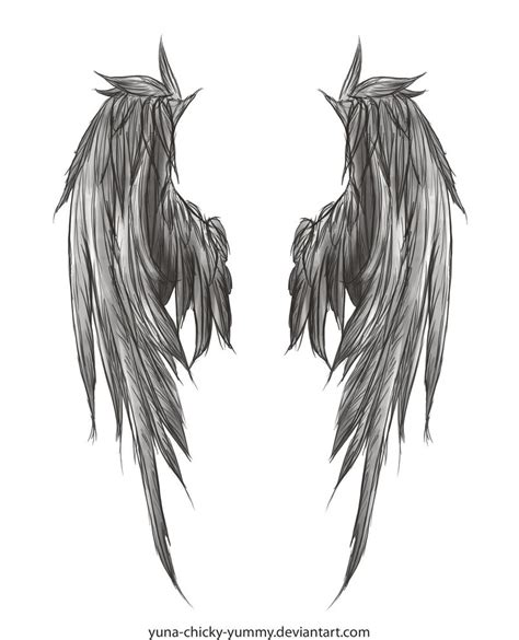 dark angel wings tattoo designs wings by yuna chicky on deviantart