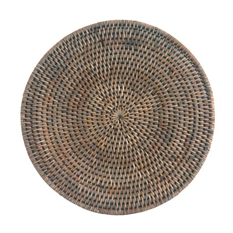 Rattan Place Mats by Grey Rattan Placemats