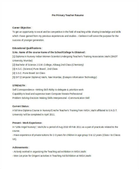Plant Nursery Worker Sle Resume by 28 Pre Primary School Resume Sle Govt Resume For Teachers Sales Lewesmr Govt Resume For