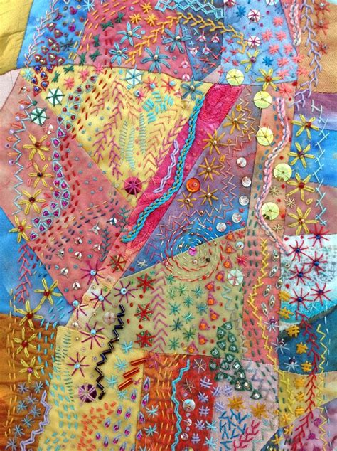 Patchwork Embroidery - embroidered patchwork quilting 2