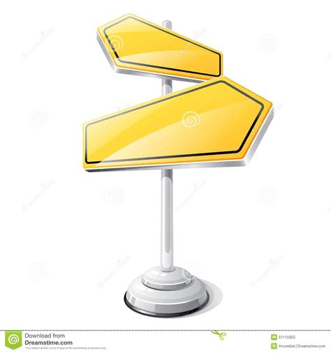 yellow road sign isolated design template stock vector