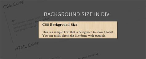 div property background image size css property formget