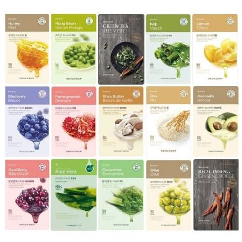 The Shop Sheet Mask the shop real nature mask sheet seoul next by you