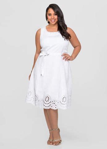 For Two Reviana Linen Dress 4 linen eyelet a line dress plus size dresses stewart 010 553520a