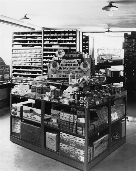 chevrolet dealership parts and accessories display 1937