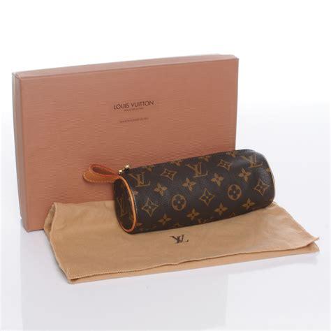 Louis Vuitton Make Up Kit Eyeshadow Blush On Lipstick louis vuitton monogram trousse ronde 20 makeup 47394