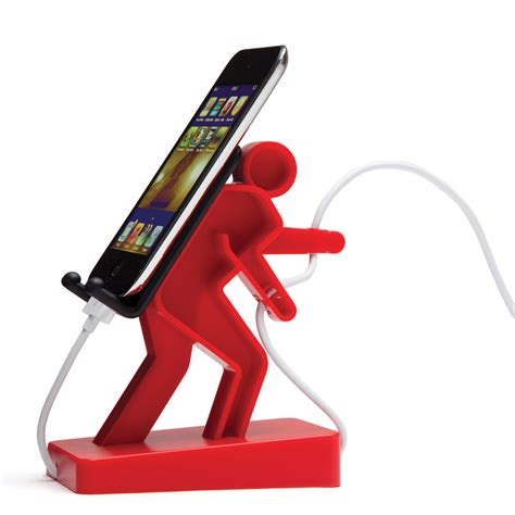 cell phone stand for boris phone holder homeware furniture and gifts mocha