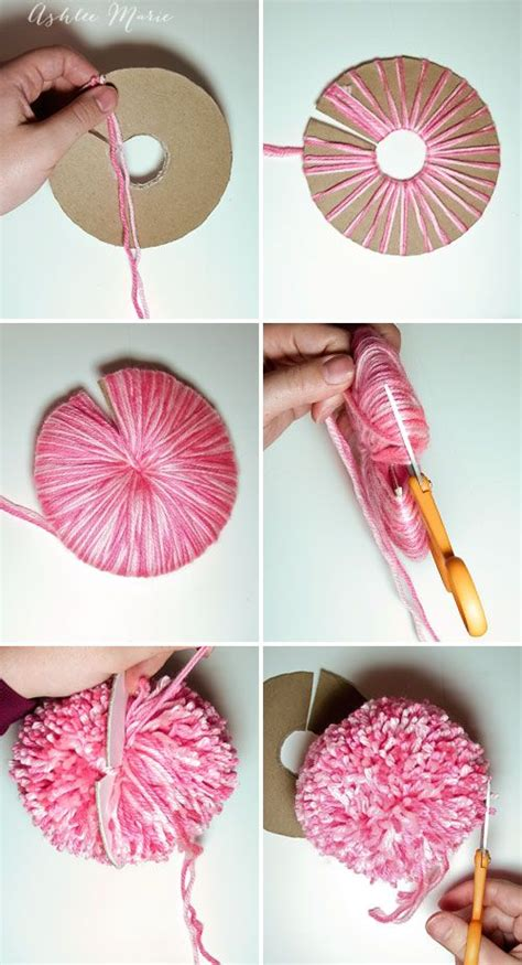 How To Make Large Paper Pom Poms - best 25 yarn pom poms ideas on pom pom diy