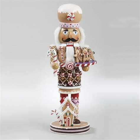 decorative nutcrackers for christmas 16 quot gingerbread kisses deluxe wooden chef with cookies nutcracker