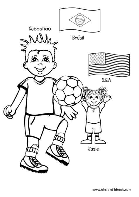coloring pages of places around the world coloriage enfant football sur hugolescargot com