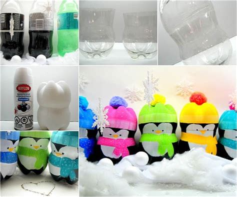 recycling plastic bottles diy craft ideas home decor creative ideas diy cute penguins from plastic bottles