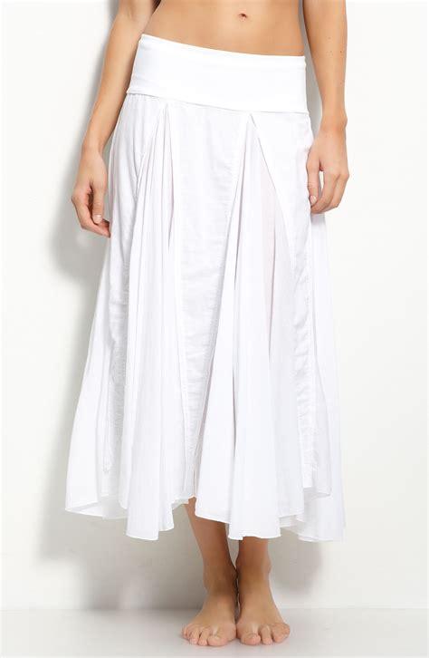 112 voile maxi skirt m white gauze ebay