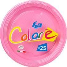 shallow plate 220mm 25pc. pink   retail   flo s.p.a.