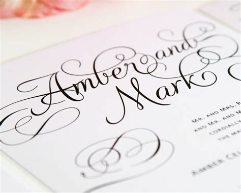 invitation script top 10 wedding invitations with script wedding invitations