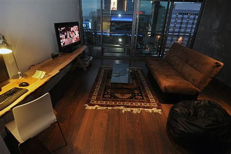 eclectic small studio apartment  ike bahadourian