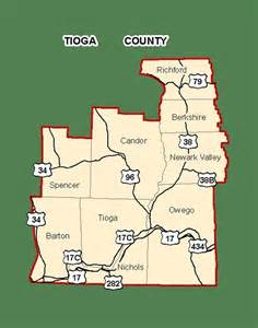 finger lakes new york tioga county map